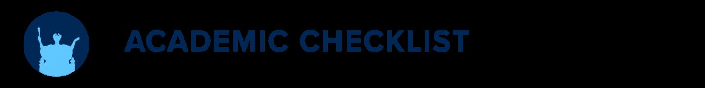 Academic Checklist