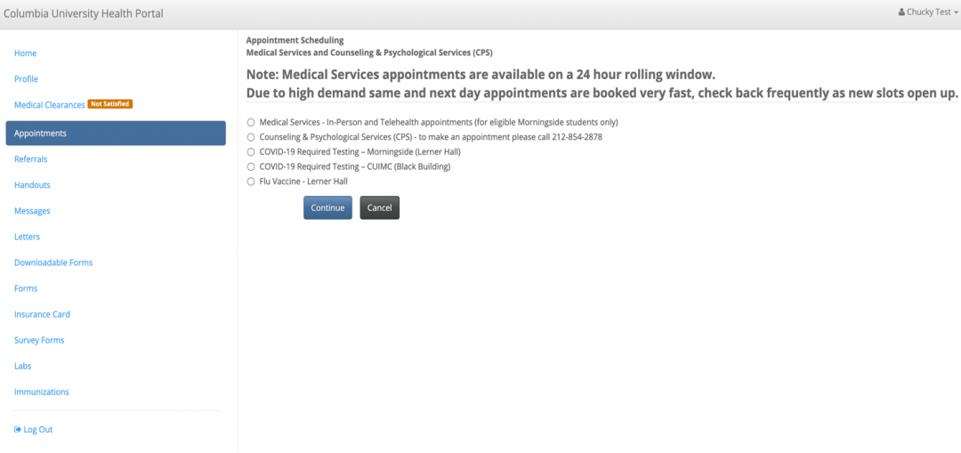 """Indicate your affiliation as """"CC/SEAS/GS undergraduates"""""""