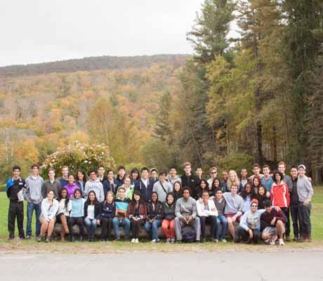 ESC and CCSC gather for a group photo after their fall retreat