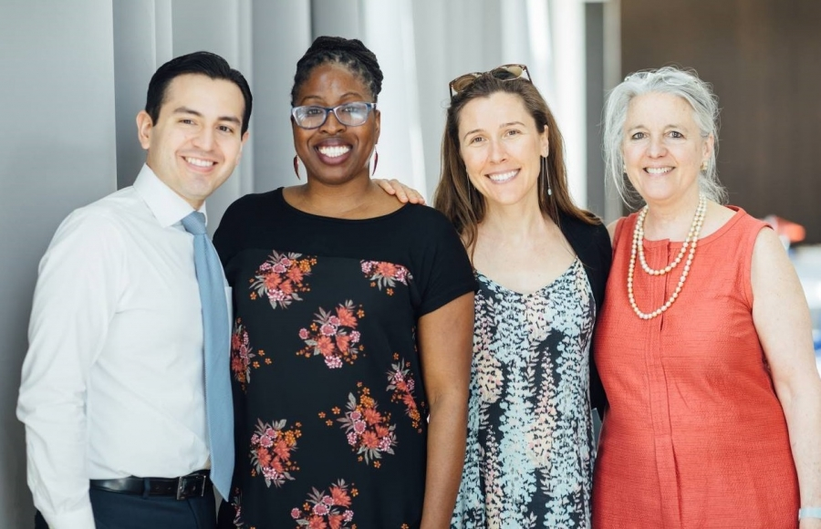 The CUSP team: Enrique Lopez, Chanda Bennett, Nicole Mihnovets, Lavinia Lorch.  (Aileen Forbes absent)