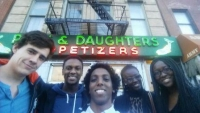 Scholars on a tour of the Lower East Side of New York for the CJS