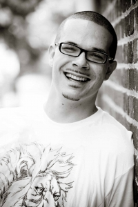 Black and white Image of Shaun King