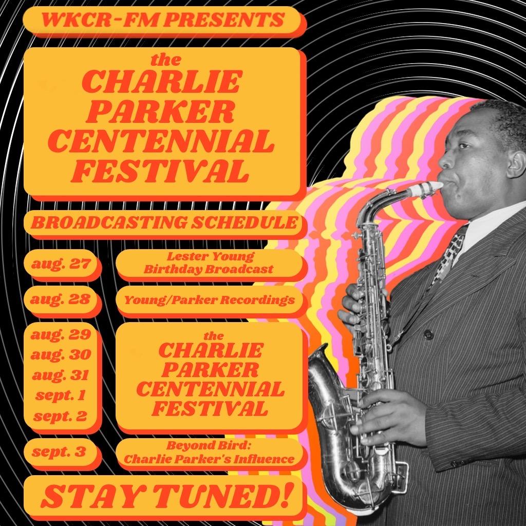 Charlie Parker Centennial Festival Schedule